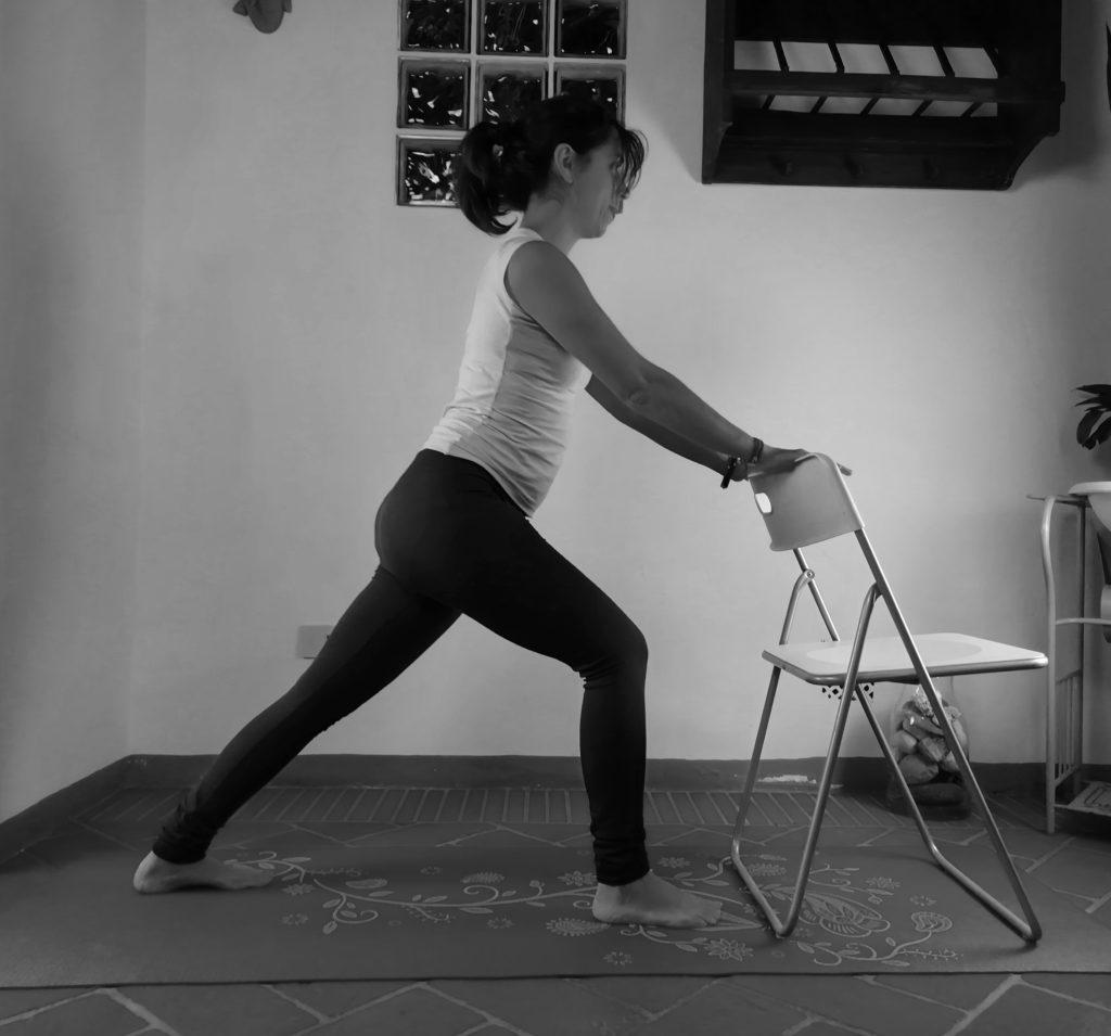 Guerriero uno, yoga accessibile
